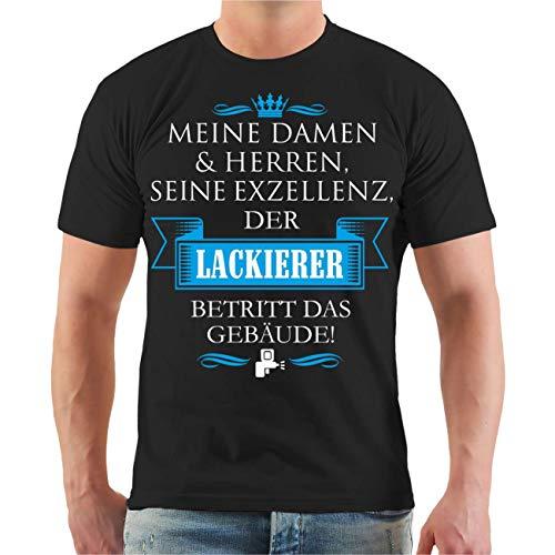 Männer und Herren T-Shirt Seine Exzellenz DER Lackierer Größe S - 8XL (Lackierer Maschine)