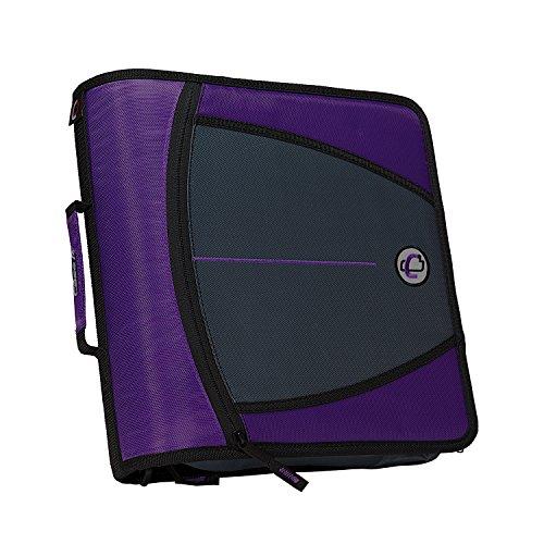 Case-it Mighty Zip Tab 3-Inch Zipper Binder,  (D-146-NEOPNK) violett
