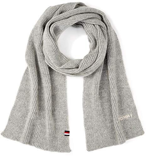 Tommy Hilfiger Damen Schal Effortless Knit Scarf, Grau (Light Grey Heather 050), One Size (Herstellergröße: OS)