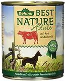 Dehner Best Nature Hundefutter Adult Rind und Reis mit Distelöl, 6 x 800 g