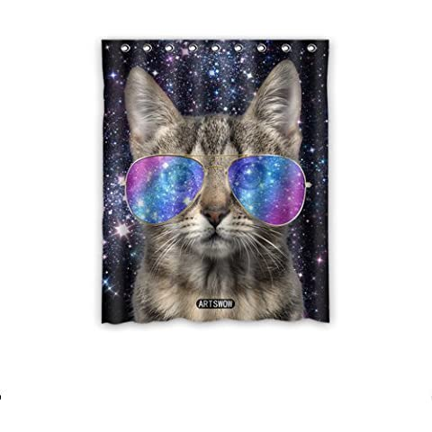 Little ARTSWOW gris de gatito vertical para ventana 52 x 63 personalizado de punto de cruz (una pieza)