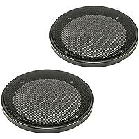 tomzz Audio ® 2800-001 Lautsprecher Gitter Grill für 130mm DIN Lautsprecher, schwarz, 2-teilig Kunststoffring mit Metallgitter, Satz
