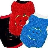 Aeici Haustier Kleidung SHU Baumwollsamt Bestickte Nette Apple Kopfhaustier Weste Hundekleidung Herbst Winter Modelle M