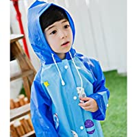 Highdas 2016 Children Waterproof Cartoon Poncho Students Breathable Raincoat with Light Reflective
