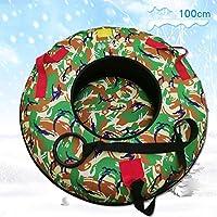 ZHAOK Trineo de Hielo Sled Tubo de Nieve de Inflable Trineo de Nieve Resistente de 39 Pulgadas Winter Fun Herramientas de Esquí,A