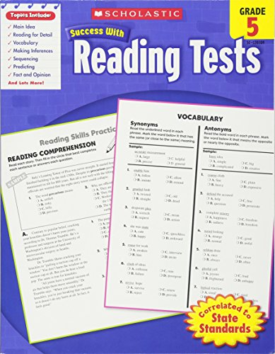 Reading Tests, Grade 5 (Scholastic Success with Workbooks: Tests Reading)