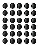 Magnete Ø 24mm, Haftmagnete für Whiteboard, Kühlschrankmagnet, Magnettafel, Magnetwand, Magnet Rund (3, Schwarz)