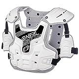 O'Neal PXR Stone Shield Protektoren Jacke Offroad Motocross Enduro MX Panzer Rücken Brust, 0734-1, Farbe weiß