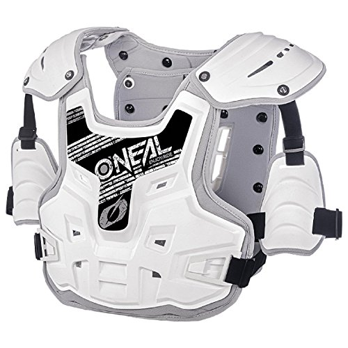 O\'Neal PXR Stone Shield Protektoren Jacke Offroad Motocross Enduro MX Panzer Rücken Brust, 0734-1, Farbe weiß