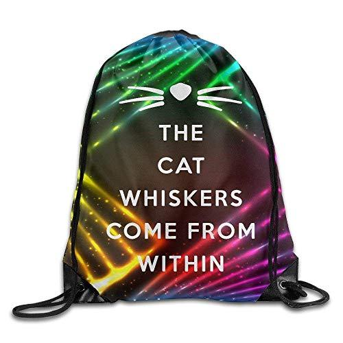shuangshao liu Unisex Dan Phil Cat Whiskers Drawstring Tasche Rucksack mit KordelzugSport Tasche Gym Tasche 100% Polyester Material Travel Tasche For Men Women