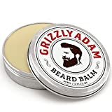 GRIZZLY ADAM Beard Balm For Men - 100% Natural Leave In Conditioner with Natural Oils for Best Moustache Grooming and Beard Growing by GRIZZLY ADAM