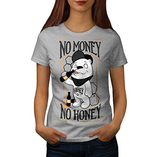 Nein Geld Honig Bier Komisch Damen S-2XL T-shirt | Wellcoda Grey