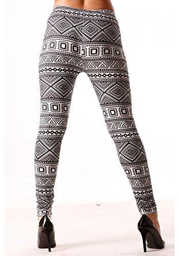 dmarkevous - Legging noir avec imprimés géométriques contrastants en blanc Noir