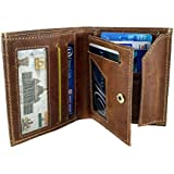 Chalk Factory Top Grained Natural Leather Mens L Wallet #CF04