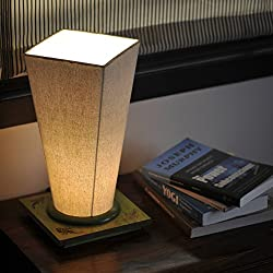 ExclusiveLane 13 Inch Conical Sheesham Wooden Table Lamp-Desk Light,Nighjt Lights ,Standing Lights ,Speciality Light ,Electric lamp
