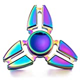 Enlarge toy image: Hand Spinner Toy, Rainbow Metal High Speed Tri-Spinner Fidget Toy for Stress and Anxiety Relief - EDC Office Toy (D) - school time children learning and fun