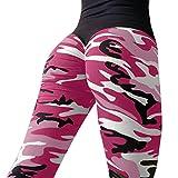 Leggings da allenamento per donna KOLY Fitness Sports Gym Running Pantaloni da atletica Leggings sportivi Pantaloni da corsa Fitness Sport colorati Sportivi Donna Sport Palestra Yoga (Hot Pink, M)