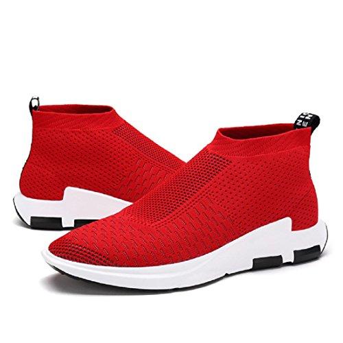 Herren Atmungsaktiv Freizeitschuhe draussen Lässige Schuhe Flache Schuhe Ausbilder Lazy Schuhe Red