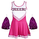 Maboobie - Abito - donna rosa XXL 52-54 Cheerleader Costume Carnevale Minigonna