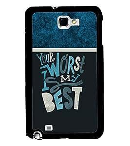 PRINTVISA Premium Metallic Insert Back Case Cover for Samsung Galaxy Note 1 - N7000 - D5914