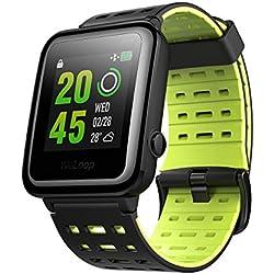 VICTSING Reloj de Entrenamiento GPS con Ritmo Cardíaco, WeLoop Hey 3S Relojes Inteligentes 5ATM Impermeable para iPhone y Android