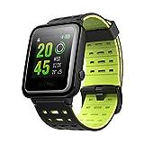 OMORC GPS Smartwatch, intelligent Sportuhr Bluetooth Laufuhr Fitness Aktivitätstracker Herzfrequenz- und Schlafmonitor 5ATM wasserdicht Laufen Schwimmen Radfahren (Grün)