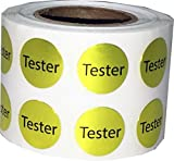 #8: VishYogi Printers - Round (Tester) Dot Adhesive Stickers, 1 Inch Round Labels/Stickers - Gold Colour Material Paper - Label Count(200)