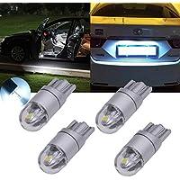 Tuincyn - Lot de 4 ampoules LED T10 W5 W 3030 2SMD, blanc, 360 lumens