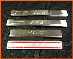 Porte plaque de seuil en acier inoxydable Garniture Panneau d'usure propre à la PEUGEOT 308 2007 2008 2009 2010 2011 2012