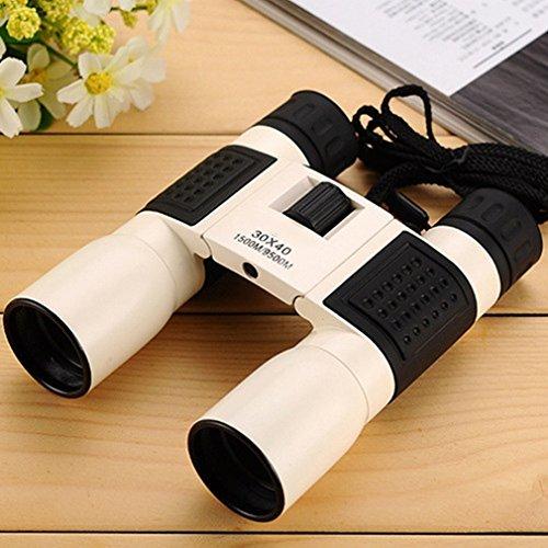 Fernglas 30X40 Hochleistungs-High-Definition-Licht Nachtsicht-Fernglas Tragbares Outdoor-Teleskop,Weiß