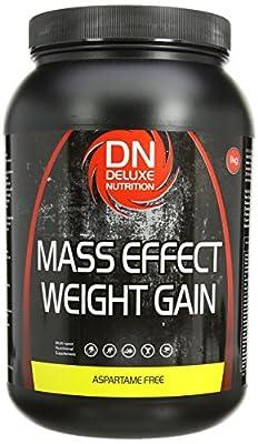 Deluxe Nutrition Mass Effect Weight Gainer Banana Whey Protein Casein Glutamine 1kg by Deluxe Nutrition