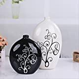 Lotefong Home Furnishing Crafts Ornament Furniture And Ornaments / Ceramic Vase With Black White Black And White Collocation