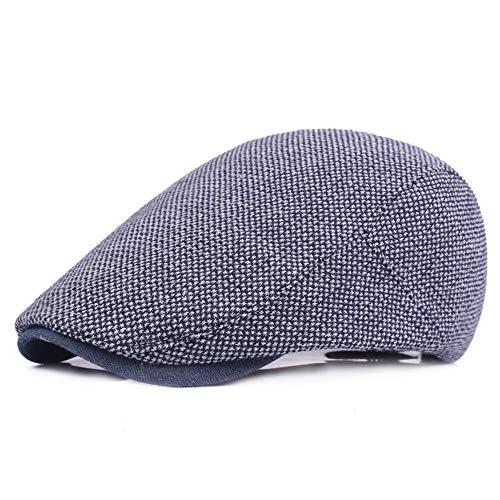 Melodycp Baskenmütze Retro Mütze aus atmungsaktiver Baumwolle Unisex Schirmmütze flach verstellbar Schirm für Männer Frauen Sport Outdoor Reisen Mode Marineblau -