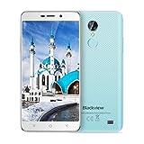 Smartphone Debloqué, Blackview A10 Telephone Portable Pas Cher 2Go+16Go Empreintes Digital Android 7.0, 3G Smartphone Dual Sim Caméra Arrière 5MP, Bleu