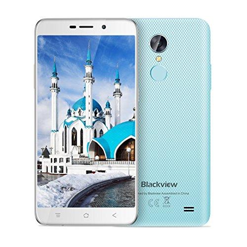 Handy Smartphone Günstig, Blackview A10 Smartphone Ohne Vertrag mit Andriod 7.0, 5 Zoll HD IPS Touch-Display, 3G Dual SIM 16 GB ROM+ 2 GB RAM, 2800mAh Akku, Quad-Core Prozessor Mobiles Telefon, WiFi/G