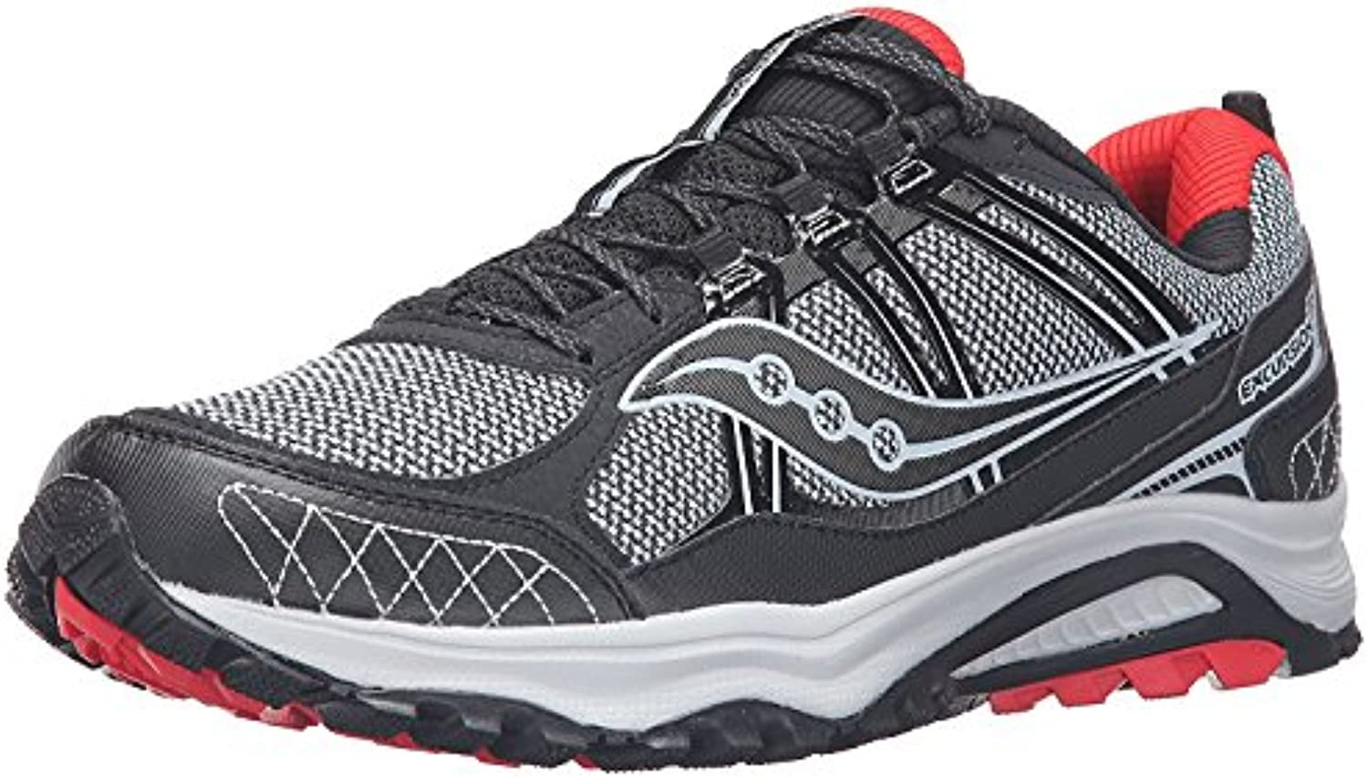 Saucony Men'S Grid Excursion tr10 Running Shoe, Red/Black/Grey, 46 D(M) EU/10.5 D(M) UK