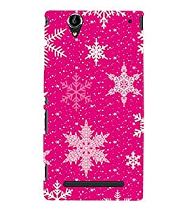 Snow Flakes Back Case Cover for Sony Xperia T2