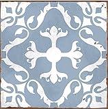 10Stück Style 3blau marokkanischem Mosaik Retro traditionellen Aged-Stil viktorianischer Stil Fliesenaufkleber Badezimmer Küche Stick auf der Wall Tile schälen und Stick Größe 6X 6trendigen Retro