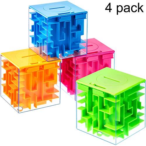 4 Stücke Geld Maze Puzzle Box, EIN Spaß Einzigartige Weg für Menschen, die Sie Geliebt Haben, ideal für Valentinstag oder Weihnachten