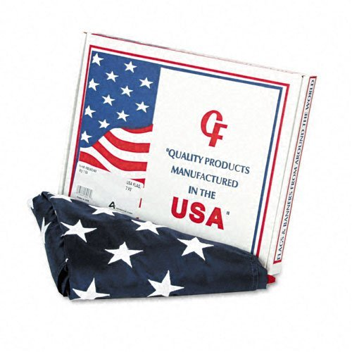 Nylon Flag (Advantus Products - Advantus - All-Weather Outdoor U.S. Flag, 100% Heavyweight Nylon, 3 ft. x 5 ft. - Sold As 1 Each - All-weather flag made of 100% heavyweight nylon. - Sewn stripes and embroidered stars. - White canvas heading is fitted with brass grommets. - Made in U.S.A. - by Advantus®)