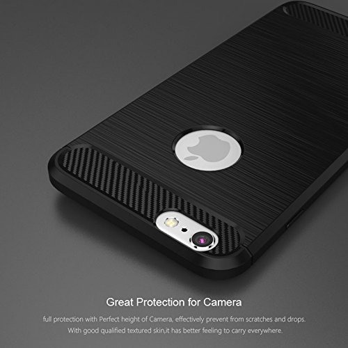"iPhone 6S / 6 Hülle Schwarz , ivencase Luxus Silikon Handyhülle Schutzhülle TPU Case Backcover Bumper Slimcase Etui Tasche für iPhone 6S / 6 4.7"" black"