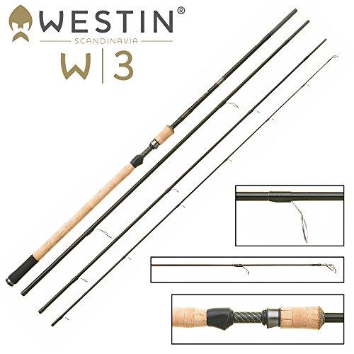 Westin W3 Ultralight Spin ML 360cm 5-25g - Spinnrute zum Forellenangeln, Angelrute zum Meerforellenangeln mit Sbirolino Spinnruten