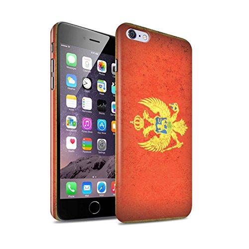 STUFF4 Glanz Snap-On Hülle / Case für Apple iPhone 6+/Plus 5.5 / Mazedonien/Mazedonisch Muster / Europa Flagge Kollektion Montenegro/Montenegros