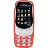 "Darago 3310i Dual Sim, 2.4"" Big Screen Mobile Phone (Red)"