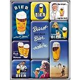 Nostalgic-Art 83002 Bier und Spirituosen Durst, Magnet-Set, 9-teilig