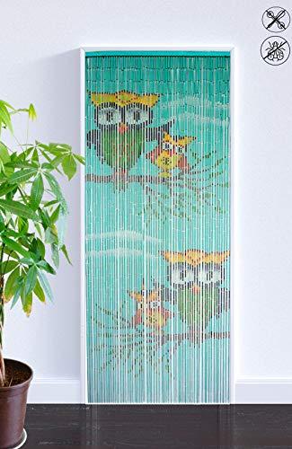 ABC Home Living Türvorhang Insektenschutz Fliegenschutz Raumteiler, Bambus, Mehrfarbig, 90 x 200 cm
