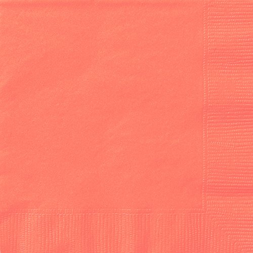(Papierservietten, 16,5 cm 20er-Packung korallenpink)