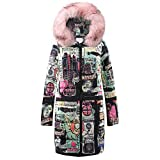 iHENGH Neujahrs Karnevalsaktion Damen Herbst Winter Bequem Mantel Lässig Mode Jacke Frauen Winter Long Down Cotton Damen Parka Kapuzenmantel Steppjacke Outwear
