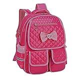 Kaxich Kinder Mädchen Rucksack Schulrucksack PU-Leder Prinzessin Stil Schultaschen Kinderrucksack für Teenage Maedchen 9-11 Jährige