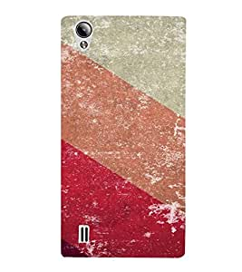 PrintVisa Colorful Stripes Pattern 3D Hard Polycarbonate Designer Back Case Cover for Vivo Y15S